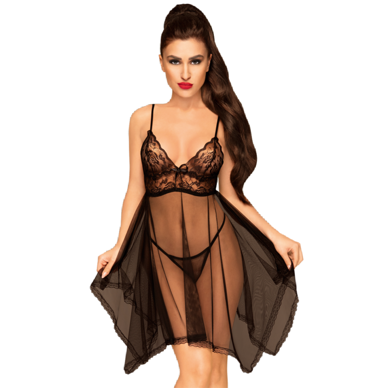 Penthouse naughty doll babydoll negro l/xl